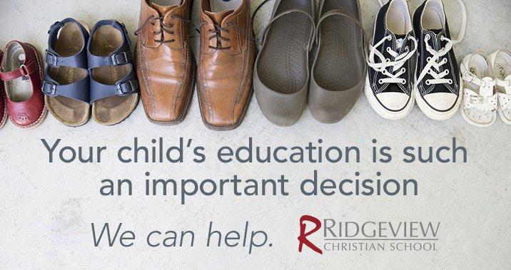 Ridgeview Christian School Admissions
